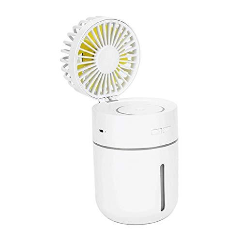 PETSOLA Ventilador de Nebulización de Mano Ventilador Portátil - Ventilador con Batería Recargable USB, Ventilador de Viaje Plegable con Humidificador de Enfr