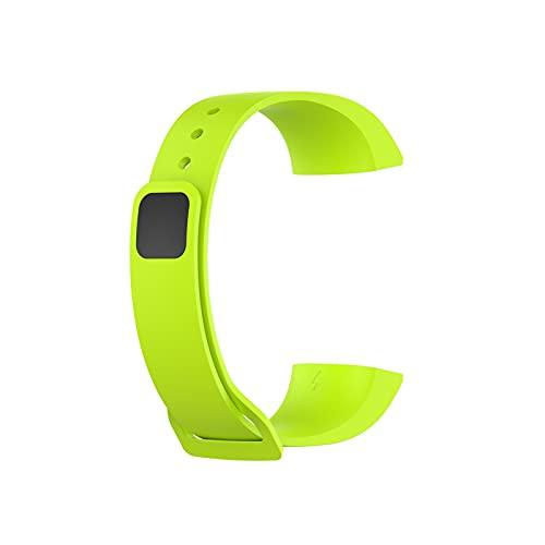 FFF8 Correa de muñeca de Silicona para Xiaomi MI Banda 4C Reloj de reemplazo Sport Sport Soft Correa para la Banda de Redmi Pulsera Inteligente para la Banda MI (Color : Green)