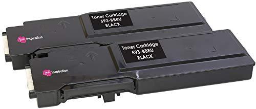 2 BLACK Compatible Laser Toner Cartridges for Dell C2660 C2660dn C2665 C2665dnf | 593-BBBU 6,000 Pages
