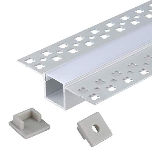 AP04E Profilo per strisce LED, in alluminio, 6x1m