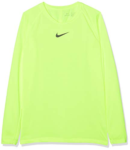 NIKE Y NK Dry Park 1Stlyr JSY LS Long Sleeved t-Shirt, Niños, Volt/Black, XS