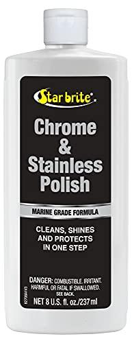 STAR BRITE 82708 Marine Grade Chrome & Stainless Steel Cleaner, Polish & Protectant