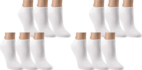 Vitasox 15022 Damen Sneaker Socken Sneakersocken Füßlinge 12er Pack weiß 35/38