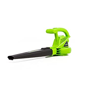 Greenworks 2401502 9 Amp 180 MPH 2-Speed Blower Black and Green