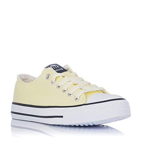 Zapatillas de Lona Amarillas Mustang 13991