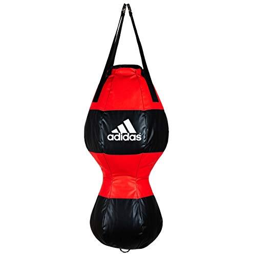 adidas Uppercut Punching - Saco de boxeo (80 x 33 cm, poliuretano, 20 kg), color negro y rojo