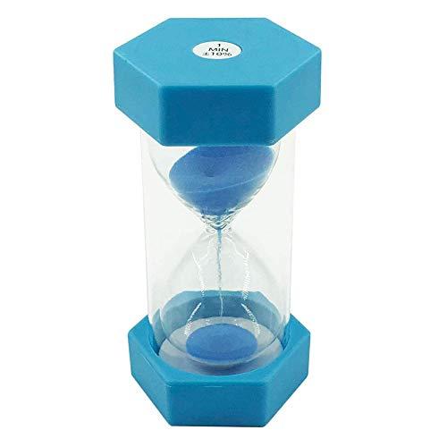 Sablier pour Enfant, 1 Minutes, en Plastique, Peut être utilisé pour la Salle de Jeux et Le brossage des Dents (Bleu)
