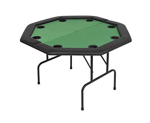 Pissente Tablero de Póker, Tablero de Poker Plegable de Octogonal para 8 Jugadores, Verde