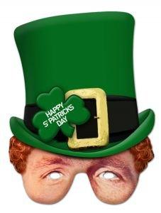 Masque Carton Célébrités St Patrick Day's