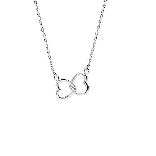 U.Shine Sterling Silver Heart Necklace Heart Necklaces for Women Double Heart Necklace Double Heart Pendant Necklace Interlocking Heart Necklace