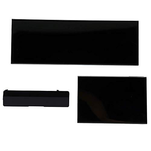 Black Wii Console Replacement Door, 3 in 1 Repair NGC Memory/NGC Handle/SD...