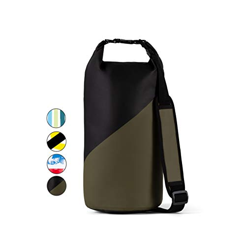 Windrift Waterproof Dry Bag  Military Grade 10L Airtight Dry Sack Includes 2 Padded Backpack Straps  Perfect for Beach Floating Rafting Hiking Fishing Swimming and More