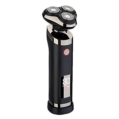 KEMEI Men s USB Rechargeable Cordless 3D Rotary Electric Razor IPX7 Waterproof LCD Display Shaving Machine Floating Blades Wet and Dry Whole Body Washable Shaver