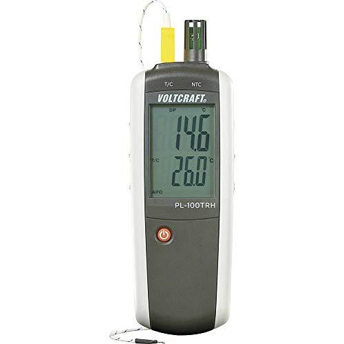 Luftfeuchtemessgerät (Hygrometer) VOLTCRAFT PL-100TRH 0% rF 100% rF -200 °C +1372 °C kalibriert: Werksstandard (ohne