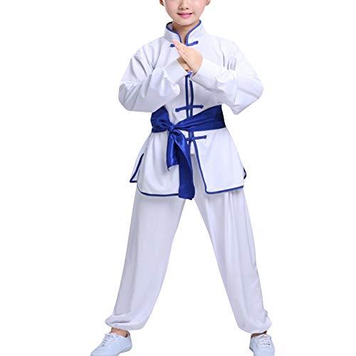Gtagain Chinesische Sportarten Kleidung Performance Kampfkunst - Kampfsport Kostüme Kung Fu Kleidung Kinder Mädchen Jungen Wushu Shaolin Tai Chi Stehkragen