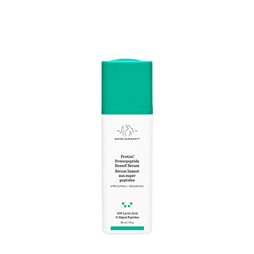 Drunk Elephant Protini Powerpeptide Resurf Serum. Strengthen and Resurface Face Serum with 10% Lactic Acid and 11 Signal Peptides (1 Ounce/30 Milliliters)