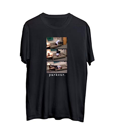 MTNACLOTHING Office The TV Show Jim Halpert Parkour Meme_MA0451 T-Shirt Shirt Tshirt per Uomo Maglietta Men Regalo di Natale Novelty Tee Shirts, XL Black Men