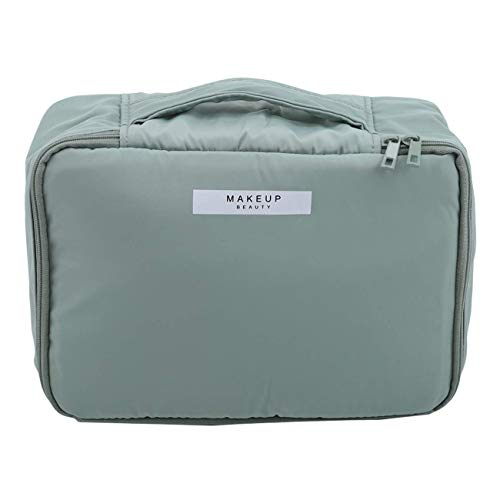 Sac à cosmétiques Portable Large capacity Travel Makeup Pure Color Multifonction Case Toiletry Bags for Women, Green