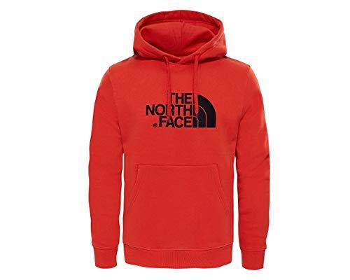 The North Face Light Drew Peak, Felpa con Cappuccio Uomo (M, Fiery Red/TNF Black)