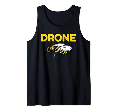 Drone Abejas Piloto Quadcopter RC Apicultura Miel Apicultor Camiseta sin Mangas