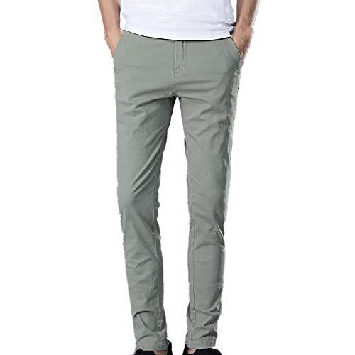 N\P Los Hombres Casual Pantalones Otoño e Invierno De Los Hombres De Color Sólido Simple Elástico De La