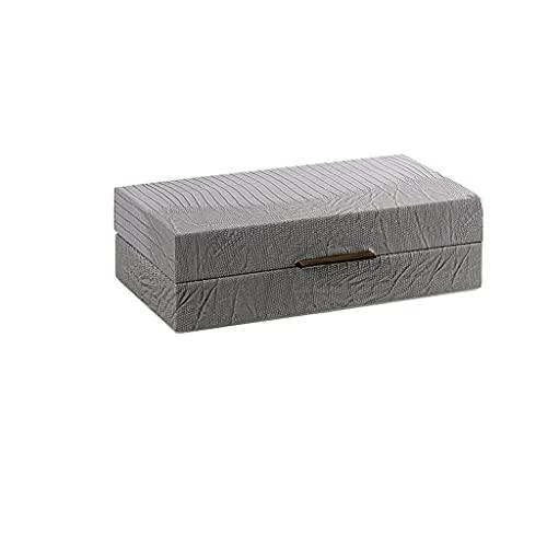 ZWS Joyero Caja de joyería de Cuero Simple Moderna, Caja de Almacenamiento de joyería para el hogar para Pendientes de Pernos Anillos Collares Pulseras Caja de joyería (Color : A, tamaño : Small)
