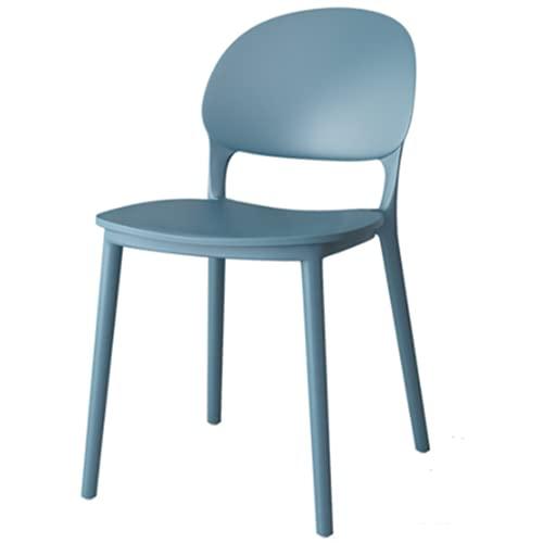 Blue Gartenstuhl Aus Kunststoff  Set 4 Gartenstühle Stapelbar   Wasserabweisender, UV-beständiger Stapelstuhl bis 160...