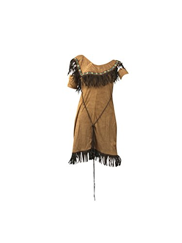 Natale di donne Costume indiano - include American Indian Fancy Dress, Braccio polsini e Feathered fascia - Costume Pocahontas per Halloween - Premium materiali di qualità - Regno Unito Taglie 8-14