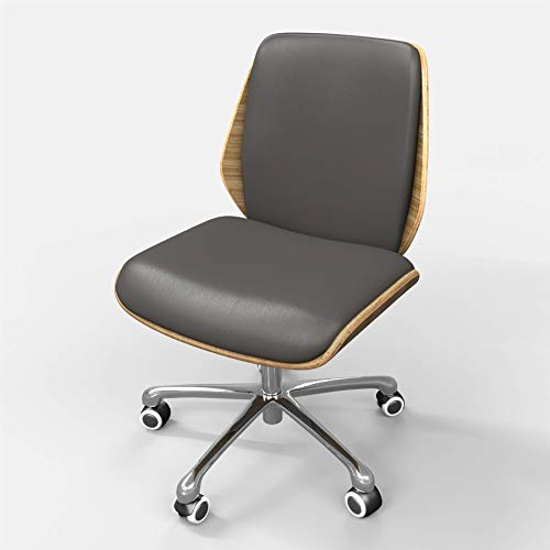 Desk Operator Chair Dark Grey PU Leather in Retro Style for Home & Office by Piranha Furniture AURORA OC15gy