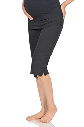 Beachcoco Women's Maternity Comfortable Knee Cropped Active Lounge Pants (S,...
