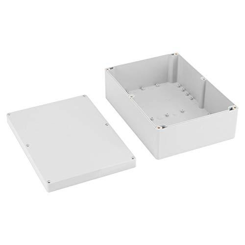 Caja de Conexiones, 263 * 185 * 95 mm Caja de Conexiones de Bricolaje para Proyecto de Carcasa de plástico Blanco Resistente al Agua