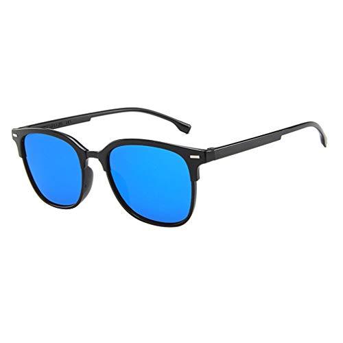 Nsdsb Hombres Gafas De Sol De Conducción para Hombres Montura Irrompible 100% Protección UV Negro-Azul