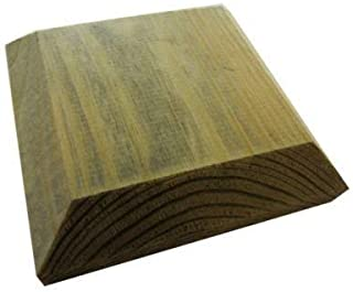 comprar comparacion 120mm Square Green Treated Wood Decking Fence Post Caps For 4 Inch Posts