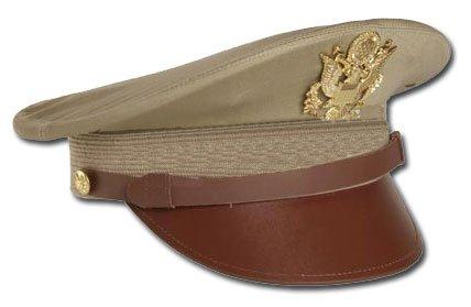 Mil-Tec US Officier Visière A avec Insigne Kaki (Repro) - XL