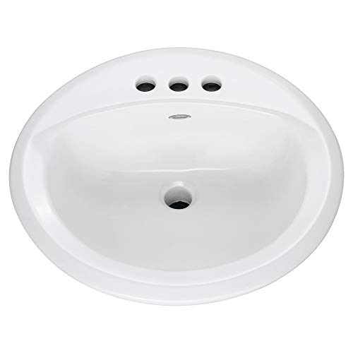 American Standard 0491019.020 Ronda Lyn Bathroom Sink, 198 Mm H W X 19-1/8 in D, Vitreous China, 15' x 12-1/8', White