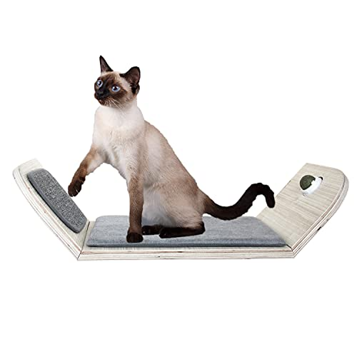 All for Paws Wall Mounted Cat Scratcher Lounge Bed, Cat Wall Shelves and Perches for Climbing, Playing and Sleep with Catnip Ball
