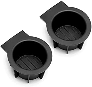 Poweka Front Center Console Cup Holder Insert Compatible with 2009-2014 F150 Without Flow Through Centeer Console, 2004-2008 F-150 with Flow Through Console,Replacement 2L1Z-7813562-AAA 2 Pack