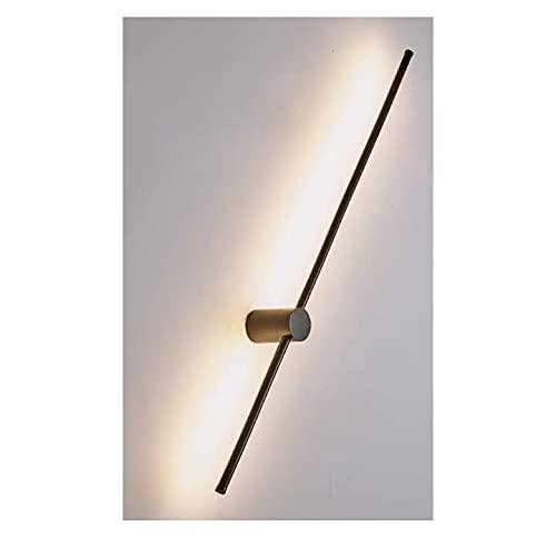Apliques de pared LED Luz de lavado de pared de aluminio moderno de 9 W para el pasillo del dormitorio de la sala de estar [Clase energética A ++] (Color : Oro)