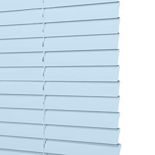 ZXXL Persianas Persianas Venecianas de Metal de Aluminio, Persianas Azules para Baño/Dormitorio/Sala de Estar, 80cm / 90cm / 100cm / 110cm / 120cm de Ancho (Size : 90×180cm)
