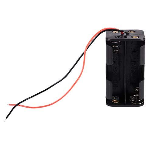 Camisin Black Tow Layers - Caja de 4 pilas AA de 1,5 V, con cables de alambre