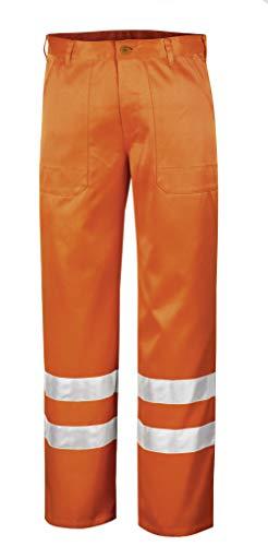 teXXor veiligheidsbroek Quebec werkbroek met reflecterende strepen, 29, oranje, 4305