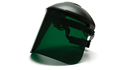 Pyramex Safety Full Face Shield Eye & Head Protection (Headgear Not Included), Dark Green Polyethylene - ANSI Z87. Buy it now for 12.54