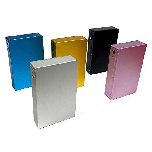 Zigarettenbox Aluminium Zigarettenetui Zigarettendose Zigarettenschachtel Etui Spender Metall Für 12 Zigaretten (Silber)