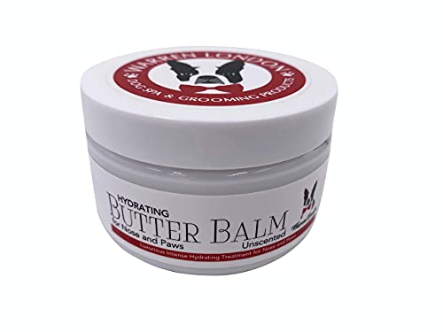 Warren London Hydrating Butter Balm- Dog Balm for Paws and Nose- Made in USA- Unscented 4oz