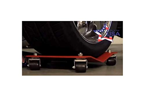 Car Wheel Dolly Moving Dollies Heavy Duty Set Premium Professional Automobile Skates Tire Shop Garage Easy Roll Auto Race Car Movers Storage 10,000# Capacity for The Set of (4) HD 12x16