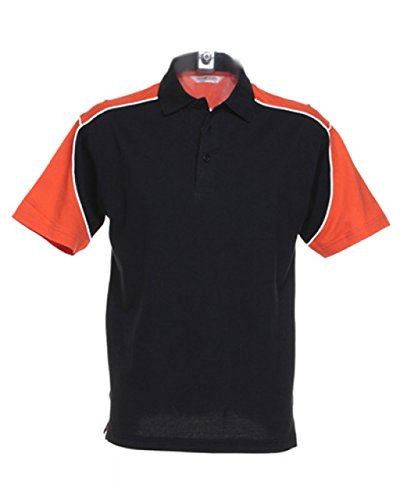 FORMULA RACING - Polo - Homme - Multicolore - Black/Orange/White - moyen