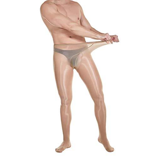 ElsaYX STW Herren Strumpfhose, glänzend, mit U-Beutel