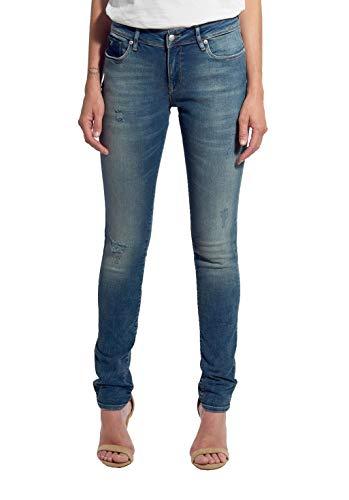 Kaporal - Jean Bleu délavé, Coupe Slim, Taille Standard - Flore - Femme - 26 - Bleu