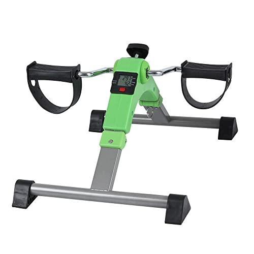 Bicicleta de Rehabilitacion,ejercitador de pedal plegable debajo del escritorio con pantalla LED y resistencia ajustable,para entrenamiento de ejercicios en casa/green / 520x355x240mm