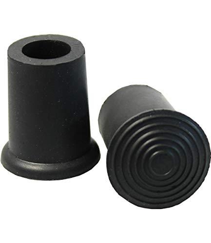 Gummipuffer schwarz für Gehstöcke 8-22mm, Gehstockgummi, Stockkapsel, Gummikappe (20mm)